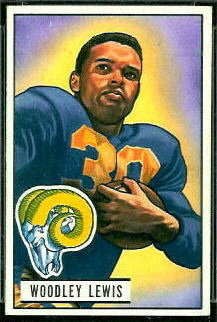 Woodley Lewis 1951 Bowman football card