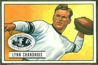 Lynn Chandnois 1951 Bowman rookie football card