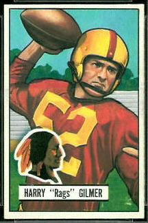 Harry Gilmer 1951 Bowman football card