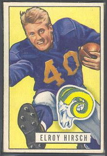 Elroy Hirsch 1951 Bowman football card