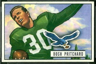 Bosh Pritchard 1951 Bowman football card