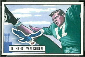 Ebert Van Buren 1951 Bowman rookie football card