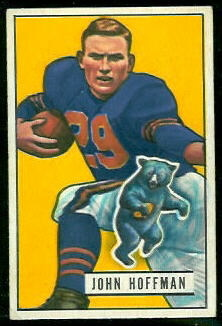 John Hoffman 1951 Bowman football card