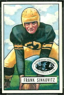 Frank Sinkovitz 1951 Bowman football card