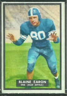 Blaine Earon 1951 Topps Magic football card