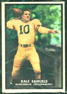 Dale Samuels 1951 Topps Magic football card
