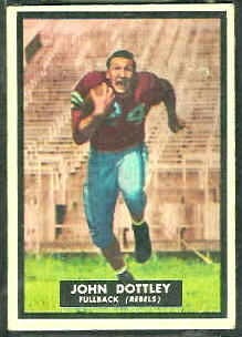 John Dottley 1951 Topps Magic football card