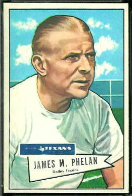 Jim Phelan 1952 Bowman Large football card