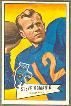 Steve Romanik 1952 Bowman Large football card