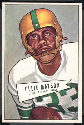 Ollie Matson 1952 Bowman Large rookie football card