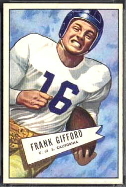 Frank Gifford 1952 Bowman Large football card