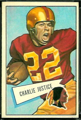 Charlie Justice 1952 Bowman Large football card