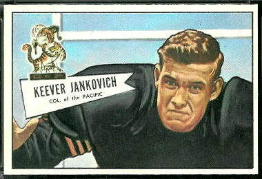 Keever Jankovich 1952 Bowman Large football card