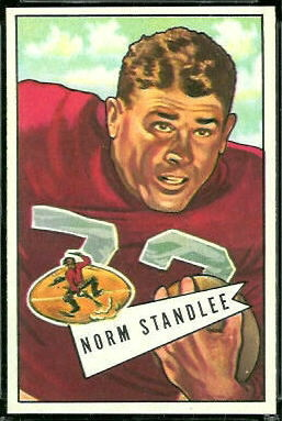 Norm Standlee 1952 Bowman Large football card