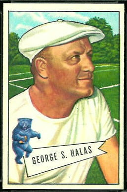 1952 Bowman Large George Halas football card