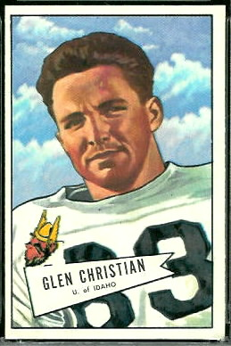 Glen Christian 1952 Bowman Large football card