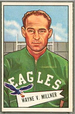 Wayne Millner 1952 Bowman Large football card