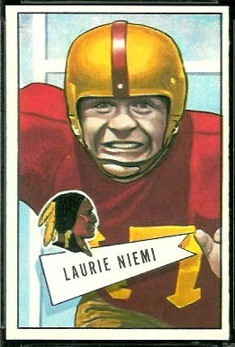 Laurie Niemi 1952 Bowman Large football card