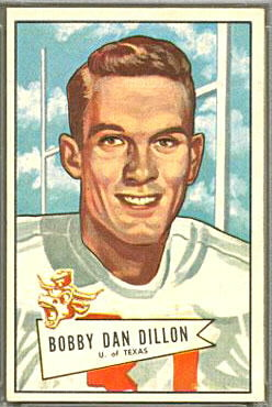 Bobby Dillon 1952 Bowman Large football card