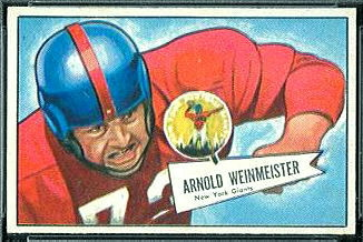Arnie Weinmeister 1952 Bowman Small football card