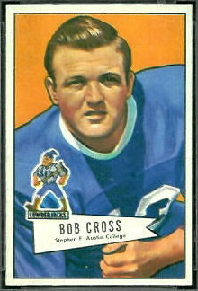 Bobby Cross 1952 Bowman Small football card