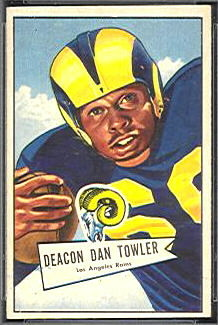 Dan Towler 1952 Bowman Small football card