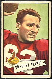Charley Trippi 1952 Bowman Small football card