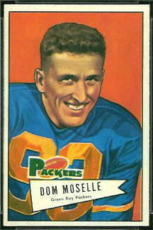 1952 Bowman Small Dom Moselle football card