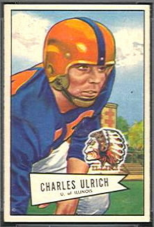 Chuck Ulrich 1952 Bowman Small football card