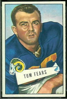 Tom Fears 1952 Bowman Small football card