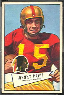 John Papit 1952 Bowman Small football card