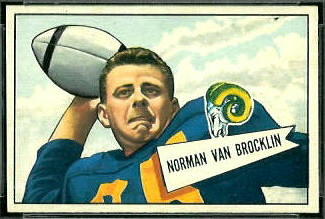 1952 Bowman Small Norm Van Brocklin football card