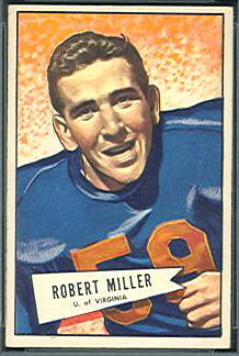 Bob Miller 1952 Bowman Small football card