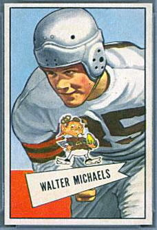 Walt Michaels 1952 Bowman Small football card