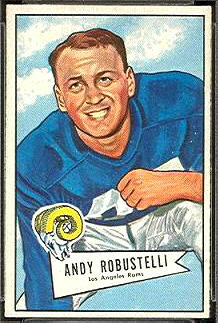 Andy Robustelli 1952 Bowman Small rookie football card