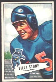 Billy Stone 1952 Bowman Small football card