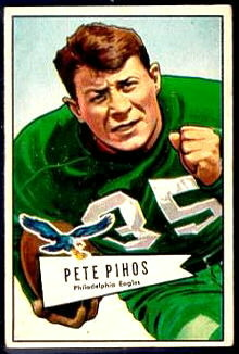 Pete Pihos 1952 Bowman Small football card