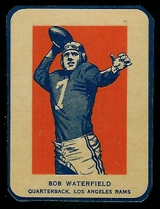 Bob Waterfield in Action 1952 Wheaties football card