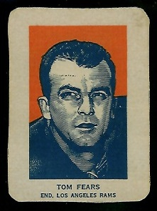 Tom Fears Portrait 1952 Wheaties football card