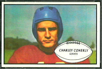 Charley Conerly 1953 Bowman football card