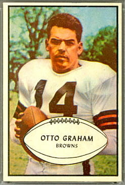 Otto Graham 1953 Bowman football card
