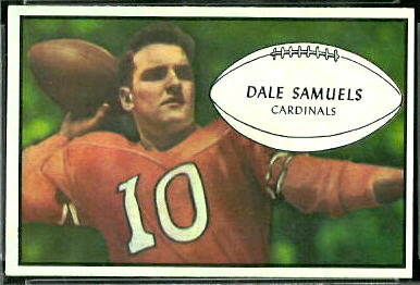 Dale Samuels 1953 Bowman football card