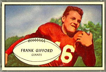 Frank Gifford 1953 Bowman football card