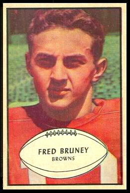 Fred Bruney 1953 Bowman football card