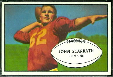 Jack Scarbath 1953 Bowman football card