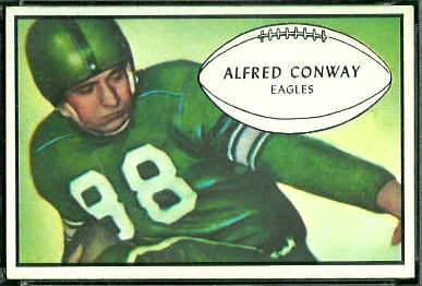 1953 Bowman Al Conway football card