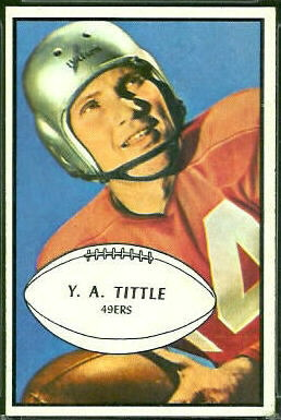 Y.A. Tittle 1953 Bowman football card