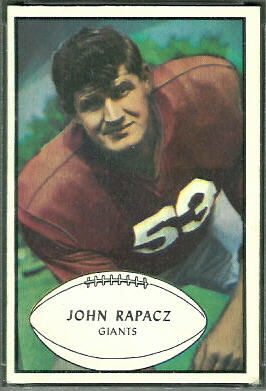 John Rapacz 1953 Bowman football card