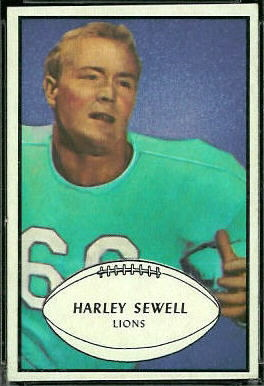 Harley Sewell 1953 Bowman rookie football card