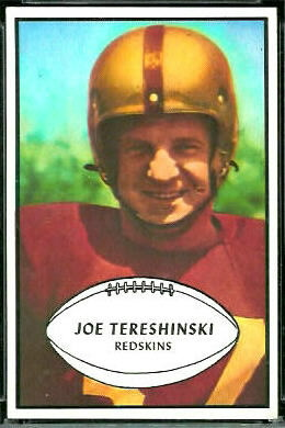 Joe Tereshinski 1953 Bowman football card